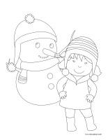 Images à colorier-Carnaval d'hiver