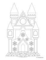 Images à colorier-Châteaux de neige