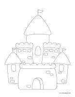 Images à colorier-Châteaux de sable