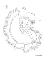Images à colorier-Danse