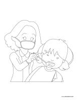 Images à colorier-Dentiste