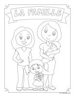 Images à colorier-Famille