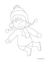 Images à colorier-Fête des Neiges