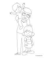 Images à colorier-Fête des Pères 2018