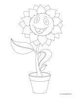 Images à colorier-Fleurs dessin