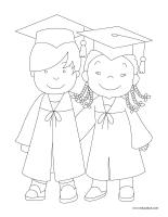 Images à colorier-Graduation 2021