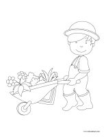 Images à colorier-Jardiniers-Jardinières