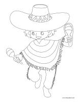Images à colorier-Je parle espagnol