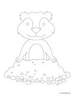 Images à colorier-Jour de la marmotte