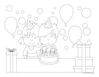 Images à colorier-Journée de l'enfant