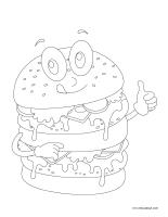 Images à colorier-L'alimentation-1