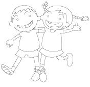 Images à colorier-L'amitié