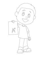 Images à colorier-L'école
