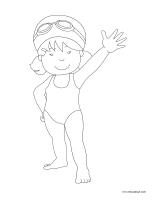 Images à colorier-La baignade