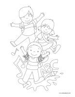 Images à colorier-La fête de la rentrée