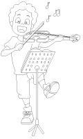 Images à colorier-La musique