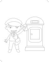 Images à colorier-La poste