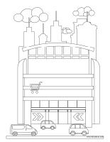 Images à colorier-La ville