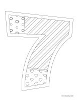 Images à colorier-Le chiffre 7