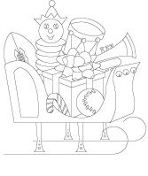 Images à colorier-Le coffre à jouets