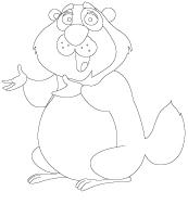 Images à colorier-Le jour de la marmotte