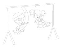 Images à colorier-Le parc