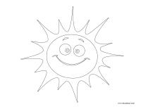 Images à colorier-Le soleil
