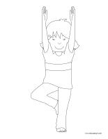 Images à colorier-Le yoga