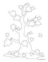 Images à colorier-Les arbres