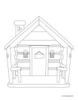 Images à colorier-Les cabanes