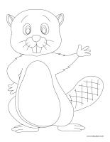 Images à colorier-Les castors