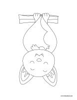 Images à colorier-Les chauvesouris