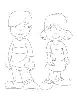 Images à colorier-Les frères et soeurs