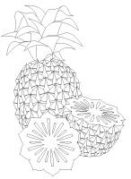 Images à colorier-Les fruits exotiques