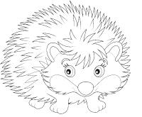 Images à colorier-Les hérissons