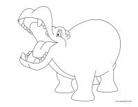Images à colorier-Les hippopotames