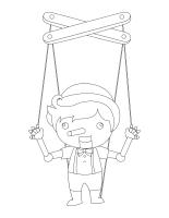 Images à colorier-Les marionnettes