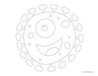 Images à colorier-Les microbes