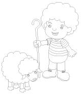 Images à colorier-Les moutons