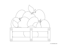 Images à colorier-Les pommes-2