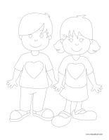 Images à colorier-Les sentiments