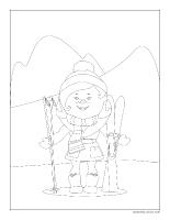 Images à colorier-Les vacances de Noël