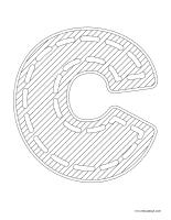 Images à colorier-Lettre C
