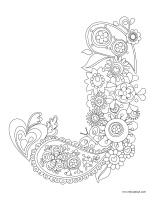 Images à colorier-Lettre J