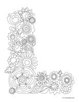 Images à colorier-Lettre L