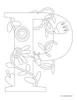 Images à colorier-Lettre P dessin activité