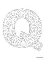 Images à colorier-Lettre Q