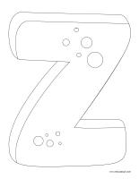 Images à colorier-Lettre Z