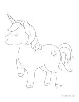 Images à colorier-Licornes