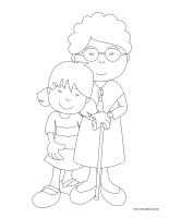 Images à colorier-Mamans et grands-mamans